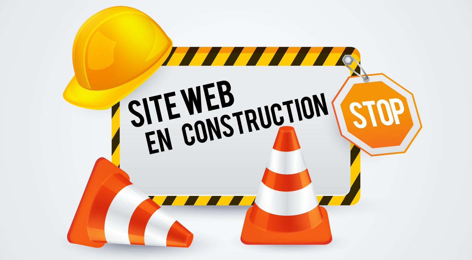 site en construction